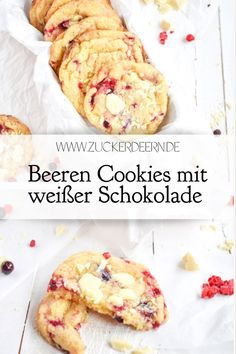 Beeren Cookies mit weißer Schokolade Berry cookies with white chocolate Image by Julias Torten und Törtchen Your doctor or a. Healthy Breakfast Recipes, Easy Healthy Recipes, Healthy Desserts, Quick Easy Meals, Easy Desserts, Vegetarian Recipes, Apple Breakfast, Dinner Healthy, Healthy Foods