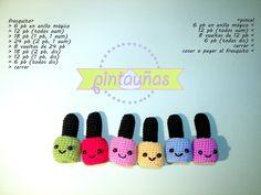 Pintauñas divertidos #ganchillo #crochet #amigurumis