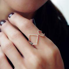 """""""Asymmetry"""" Diamond Ring - Plukka - Shop Fine Jewelry Online"""