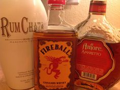 """New recipe from Mawmaw and Staci. """"Bearclaw Brewhaha"""". 1 part rumchata, 1/2 part fireball, splash of amaretto. Serve over ice. Better than a """"cinnamon roll""""! (Same recipe minus the amaretto).  A Bearclaw!  You're welcome!"""