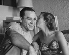 Yogi Berra and wife Carmen in 1949      Yogi 'S  wife Carmen Short was from the Salem  Mo.  area.Her sister Donna Hedley & husband  lived in Salem Mo.