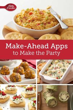 You know the best way to enjoy your own party? Make the food ahead! Make Ahead Appetizers, Cheese Appetizers, Holiday Appetizers, Appetizer Recipes, Holiday Recipes, How To Cook Polenta, Crostini, Quick Recipes, Delicious Recipes