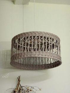 Wicker Pendant Light, Paper Weaving, Paper Basket, Basket Decoration, Handicraft, Rattan, Diy Crafts, Ceiling Lights, Baskets