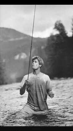 Just Brad Pitt fishing