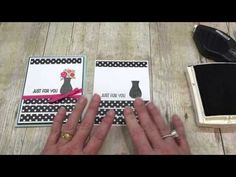 Check out how easy this adorable Spring Card is to make using Stampin Up's Floral Wings Stamp set with Black and White Polka Dots! SUPER fun video! Please st...