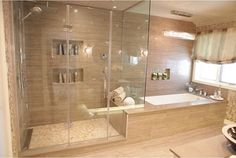 Spa Inspired Bathroom with Heated Floors