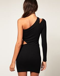 One shoulder little black dress. Discover your favorite products at getrockerbox.com