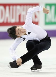 Denis Ten of Kazakhstan competes in the Mens Free Skating during the 2013 ISU World Figure Skating Championships at Budweiser Gardens on March 15, 2013 in London, Canada.