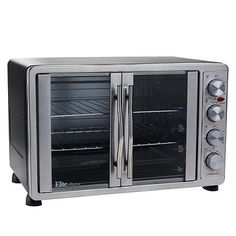 Elite Bistro 45 Liter French Door Oven with Rotisserie and Recipes