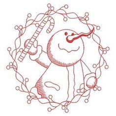 LRedwork inverno Snowman 07 (Lg)
