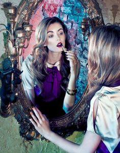 Anna-Lisa Wagner for Zink Magazine Mirror Photography, Makeup Photography, Fashion Photography, Kiss Makeup, Beauty Makeup, Hair Makeup, Combi Jean, Lisa Wagner, Purple Mirror