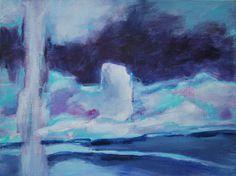 Studie op gekleurde ondergrond, acryl op canvasbord 30x40 , 2015 Marjo Holtland