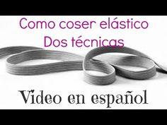 Cómo coser elástico con máquina de coser  http://ini.es/1vAR9BE #Decoración, #DIY, #Video