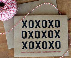XOXO Valentine Card