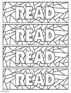 Enjoy this beautiful bookmark students can color on their own! I have included 2 different potential backs for the bookmarks, or you can just print the first side. Monster Coloring Pages, Colouring Pages, Printable Coloring Pages, Coloring Pages For Kids, Coloring Books, Creative Bookmarks, Bookmarks Kids, Bookmarks To Color, Free Printable Bookmarks