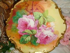 "BEAUTIFUL - George Borgfeldt - Coronet - Limoges FRANCE - 10 1/2"" from onlyfinelines on Ruby Lane"