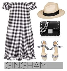 """Gingham dress"" by pamela-802 ❤ liked on Polyvore featuring Alexandre Birman, MICHAEL Michael Kors, Roxy and ginghamdress"