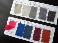 complimentary swatch cards fabrics-store.com; affordable natural linen