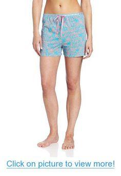 acfaf454b4 Goodnight Kiss Women's Boxer, Blue Animal, Small at Amazon Women's Clothing  store: Pajama Bottoms