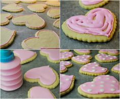 How to make these pretty pink polka dot cookies!