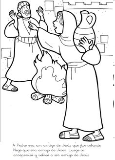 peter denies jesus coloring pages | 51 Best Peter Denies Jesus images in 2019 | Peter denies ...