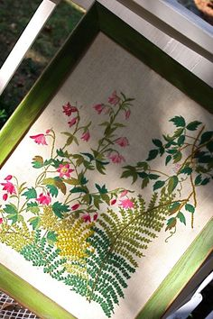 embroidery -- i remember seeing this kit in a catalog way back in the day when i had time to think about making such things.