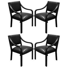 "Karl Springer ""Regency Armchairs,"" 1980s 