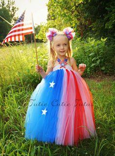 4th of July American Flag Inspired Tutu Dress by TutieCutieTutus, $60.00