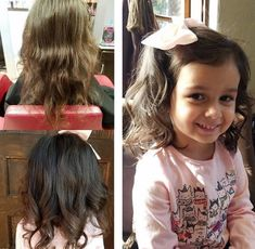 There are quite a few cute little girl haircuts available today and you have to be very careful in choosing one for your little girl. Just make a choice. Kids Girl Haircuts, Toddler Haircuts, Little Girl Hairstyles, Curly Hair Cuts, Long Hair Cuts, Curly Hair Styles, Side Swept Hairstyles, Short Bob Hairstyles, Wavy Layered Haircuts