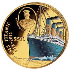 Золотая цветная монета 100 ЛЕТ - ТИТАНИК 2012 - 5 унций Canadian Coins, Coins Worth Money, Coin Art, Gold Money, Gold And Silver Coins, Coins For Sale, Business Checks, Rare Coins, Money Matters