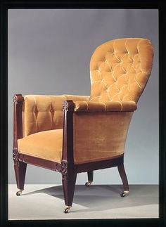 Easy Chair  Date: ca. 1852 Geography: United States Culture: American Medium: Walnut, ash