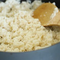 Want to know the secret to making perfect rice? It all starts out in the saute pan and this Brazilian Coconut Rice is the most amazing side dish recipe to teach you!