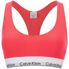 Calvin Klein Women's Modern Cotton Bralette - Bright Nectar ($37) ❤ liked on Polyvore featuring intimates, bras, orange, orange bra, calvin klein, calvin klein bra, bralette bras and cotton bras
