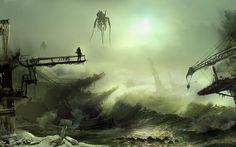 water fantasy death Chaos destruction apocalypse artwork - Wallpaper (#1226322) / Wallbase.cc