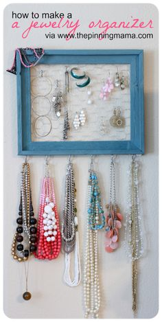 Houston Bead Society: DIY Jewelry Organizer