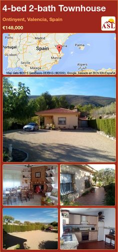 Townhouse for Sale in Ontinyent, Valencia, Spain with 4 bedrooms, 2 bathrooms - A Spanish Life Murcia, Portugal, Granite Worktops, Valencia Spain, Open Fires, Formal Gardens, Nice View, Townhouse, Spanish