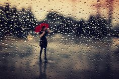 Girl in Rain - Created with BeFunky Photo Editor Girl In Rain, Dancing In The Rain, Color Photography, Amazing Photography, Red Umbrella, Light And Shadow, Rainy Days, Wedding Bells, Les Oeuvres
