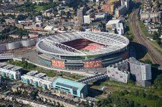Emirates stadium view from high