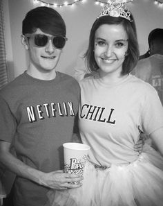 Pin for Later: 18 Last-Minute Costumes For Anyone Obsessed With the Internet Netflix and Chill Meme What you need: A shirt that says Netflix, another that says chill, and the patience to explain what it is to all your friends who have no clue.