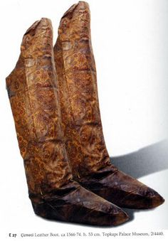 Ottoman boots from 1566-74