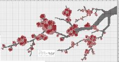 Ange's Blog: Grille Gratuite...Sakura pour l'arrivée du printemps