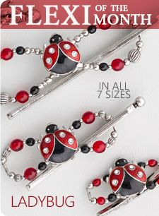 I am in love with this ladybug hair clip!!!  June's Flexi-Clip of the month!  Get it here: lillarose.biz/onemotherslove