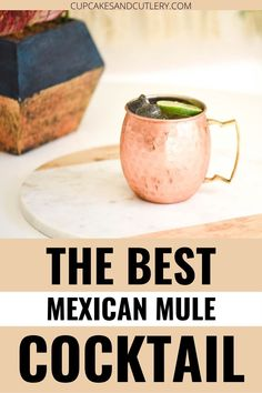 This tasty Tequila Mule recipe is quick and easy and a tasty twist on the classic Moscow Mule. Sometimes called a Mexican Mule, this refreshing cocktail is delicious on a hot summer day. Keep it cool in a copper mug and cheers with your friends as you sip a yummy tequila drink. Tequila Drinks, Non Alcoholic Drinks, Beverages, Refreshing Cocktails, Summer Drinks, Mexican Mule Recipe, Cocktail Cupcakes, Copper Mugs, Ginger Beer