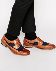 Dune Leather Braker Combo Shoes