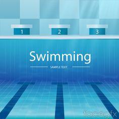 Pool diving vector