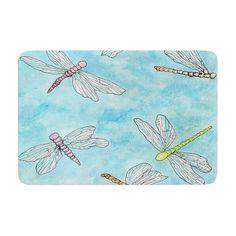 "Rosie Brown ""Dragonfly"" Memory Foam Bath Mat"