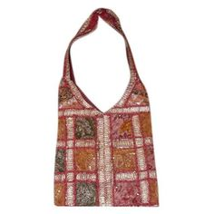Amazon.com: Bohemian Style Hobo Bag, Old Rose Pink Vintage Sari Patch Shoulder Bag from India: Clothing