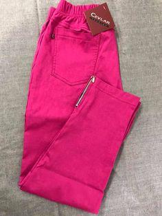 Spodnie z bengaliny Cevlar B04 kolor fuksja - Big Sister
