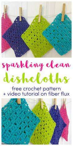 Crochet Kitchen, Crochet Home, Crochet Gifts, Free Crochet, Knit Crochet, Crochet Patterns For Beginners, Easy Crochet Patterns, Crochet Designs, Crochet Tutorials