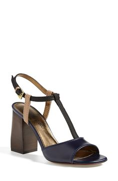 Free shipping and returns on Lanvin Colorblock Square Heel Sandal (Women) at Nordstrom.com. Lanvin's latest block heel hits all the right notes of bold style and sculptural detail. This T-strap sandal is a modern classic in neutral-hued color blocks and a stacked-high silhouette.